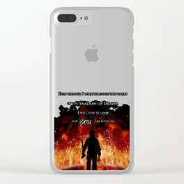 Firefighter Tribute Clear iPhone Case