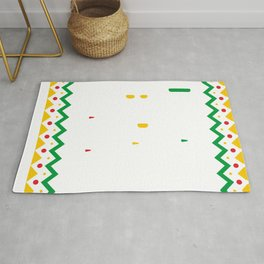 Black History Month Educated Liberated Melanated Pride African Rug