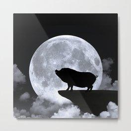 Wolf pig Metal Print