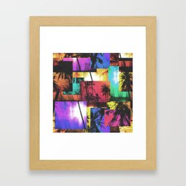 Tree Patterns with Sunset Framed Art Print