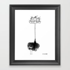 Mona The Ostrich  Framed Art Print