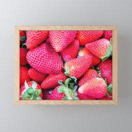 Strawberries Framed Mini Art Print