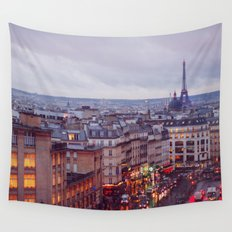 Rainy Paris. Wall Tapestry