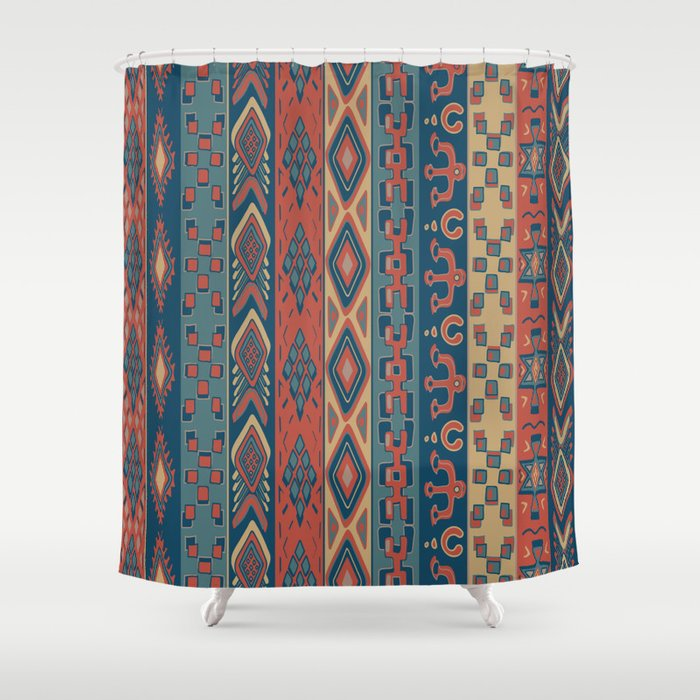 Navajo Geometric Pattern Shower Curtain
