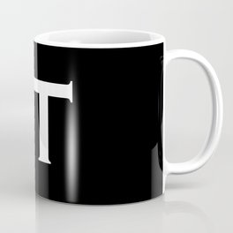 Fuck IT Humping Stickman White Typography Sarcasm Humor Graphic Design - Illustration Coffee Mug