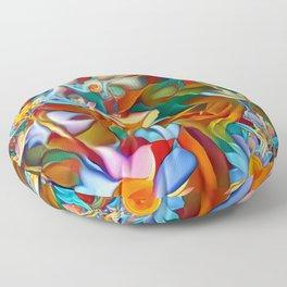 Psychedelic Daises Floor Pillow