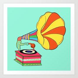 Gramophone truck art Art Print