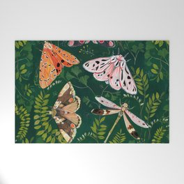 Moths and dragonfly Welcome Mat
