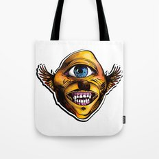Happy Cycloptic Dog Eagle with a Stache Tote Bag