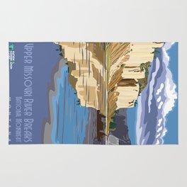 Vintage poster - Upper Missouri River Breaks Rug