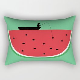 Watermelon Fisher Rectangular Pillow