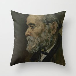 Portrait of an Old Man Throw Pillow