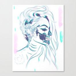Candy Skull Mermaid Canvas Print