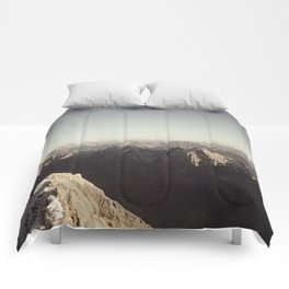 Zugspitze Mountain Germany Black and White Photography Comforters