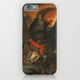 aeneas and the sibyl in the eye's underworld iPhone Case