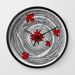 Canadian Maple Red Wall Clock