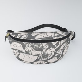 abstract pattern, Firewood texture, tree cut, gray and beige grunge wood background Fanny Pack