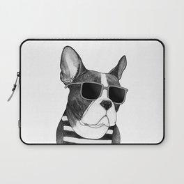 Frenchie Summer Style b&w Laptop Sleeve
