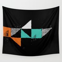 shark Wall Tapestries featuring Shark by Last Call