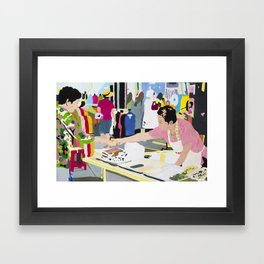 Tteok Seller Framed Art Print