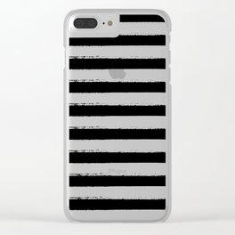 Black Stripes Clear iPhone Case