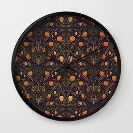 Oranges and Lemons Pattern Wall Clock