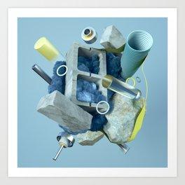 En Construcción Art Print
