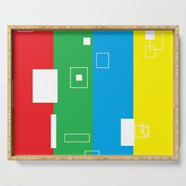 Simple Color Primary Colors Serving Tray