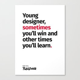 Young Designer — Advice #2 Canvas Print