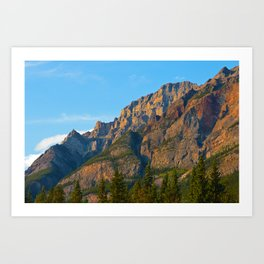 Mt. Kerkeslin in Jasper National Park Art Print