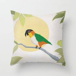 Black-Headed Caique Parrot Throw Pillow