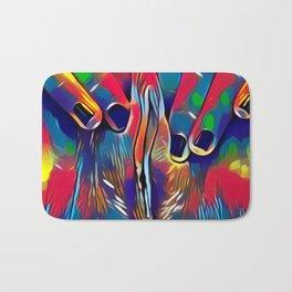 9978s-KD Abstract Yoni Pop Color Erotica Explicit Psychedelic Self Love Bath Mat
