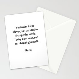 Rumi Inspirational Quotes - Change Stationery Cards