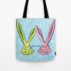 Atomic Rabbits Tote Bag