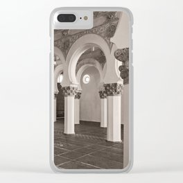 The Historic Arches in the Synagogue of Santa María la Blanca, Toledo Spain (2) Clear iPhone Case