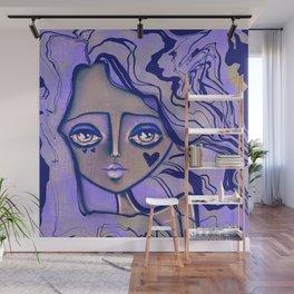 Periwinkle purple Wall Mural