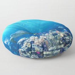 Magnificent Underwater Life Various Sea Animals Floor Pillow