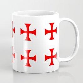 Cross pattée- crusades, templar,patty,templier Coffee Mug