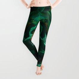 Trimeresurus Stejnegeri - green fluid abstract Resin Art Leggings