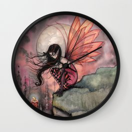 Autumn Flame Fairy Fantasy Art by Molly Harrison Wall Clock