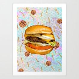 Burger & Pizzas Art Print