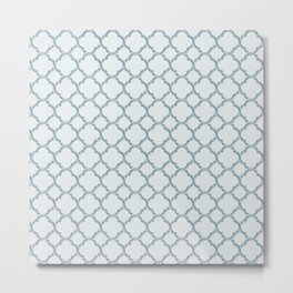 Blue Trellis Metal Print