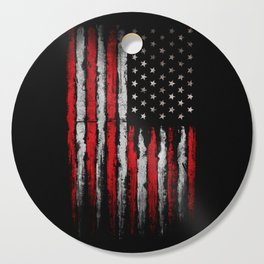 Red & white Grunge American flag Cutting Board
