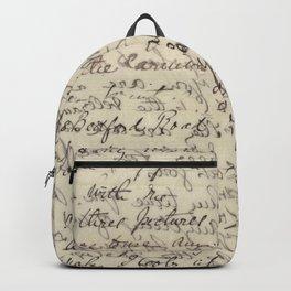 Ancient Script Calligraphy Vintage Print Backpack