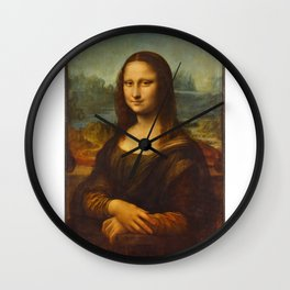 Portrait of Lisa Gherardini (Mona Lisa) Wall Clock