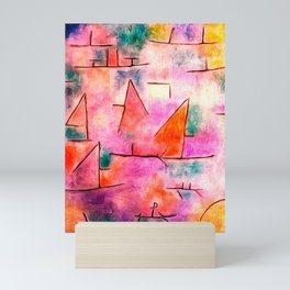 Harbour with Sailing Ships by Paul Klee Mini Art Print