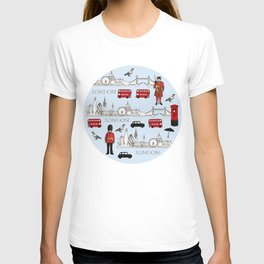 London Skyline and Icons T-shirt