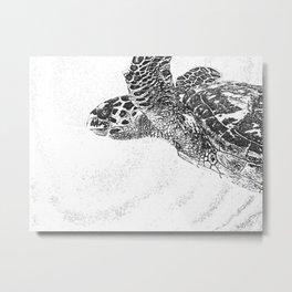 Trusting Turtle Metal Print
