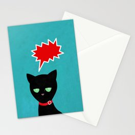 cat -Black cat Stationery Cards