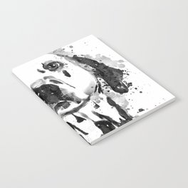 Black And White Half Faced Dalmatian Dog Notebook